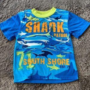 Shark Patrol Boys Shirt Size 6